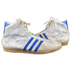 RARE! Vintage Adidas NBA High Top Shoes 70's Signed Detroit Pistons