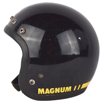 Original 1975 Bell Magnum Mag 3 Black Motorcycle Racing Helmet