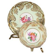 Elegant Light Green Vintage Paragon Teacup & Saucer - Pattern #A 565/8