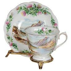 Royal Albert Bonnie Banks O'loch Lomon Teacup & Saucer