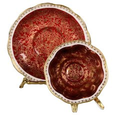 Royal Albert Red Mayfair Series Teacup & Saucer