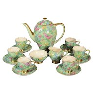 Empire Lilac Time Chinz Demitasse Coffee Set