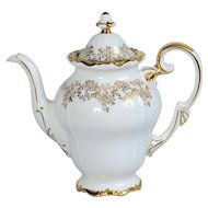 Weimar East German White/Gold Katharina Coffee Pot