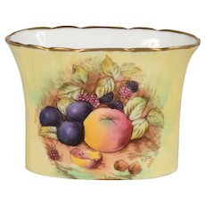 Aynsley Container/Holder Signed D. Jones Fruit Pattern