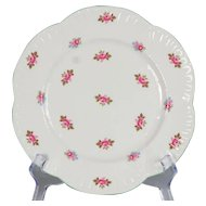 "Set of 4 Shelley Rosebud Salad Plates - 8-1/8"" Diameter"