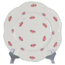 "Set of 4 Shelley Rosebud Salad Plates - 8-1/8"" Diameter"