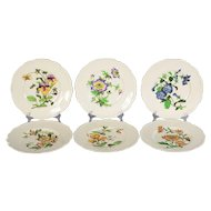 Set of 6 Cauldon Floral Dinner Plates Pattern #2893