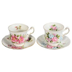 Pair of Paragon Floral Teacups & Saucers