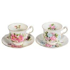 Pair of Paragon Floral Teacups & Saucers