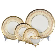 4 Aynsley Gold Dowery 5 Piece Place Settings - 20 Pieces
