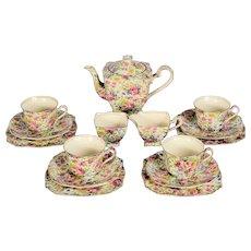 Royal Winton Summertime Chinz Tea Set # 1