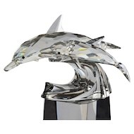 Swarovski 1990 Annual Edition - Lead Me - The Dolphins (Box & Certificate)