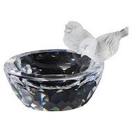 Swarovski Crystal Bird Bath Figurine (With Original Box)