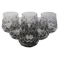 Set of 6 Waterford Lismore Roly Poly Tumblers
