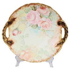 Limoges T & V France Handled Serving Plate Late 1800's to Early 1900's
