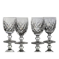 Set of 4 Waterford Donegal Claret Wine Glasses