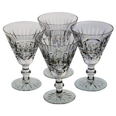 Set of 4 Waterford Tramore Claret Wine Glasses