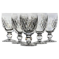 Set of 5 Waterford Boyne Claret Wine Glasses