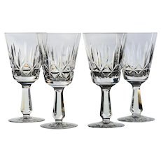 Set of 4 Waterford Kylemore Claret Wine Glasses