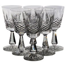 Set of 6 Waterford Kenmare Claret Wine Glasses