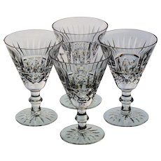 Set of 4 Waterford Tramore Cut Claret Wine Glasses