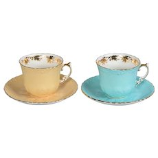 Set of 2 Aynsley Cups & Saucers