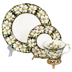 Royal Albert Provincial Flower Dogwood Trio