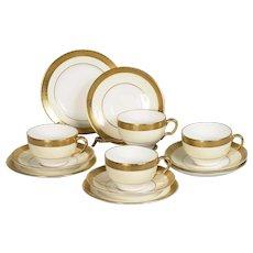 Set of 4 Minton Buckingham Cup, Saucer & Plate Trios Pattern # K 159