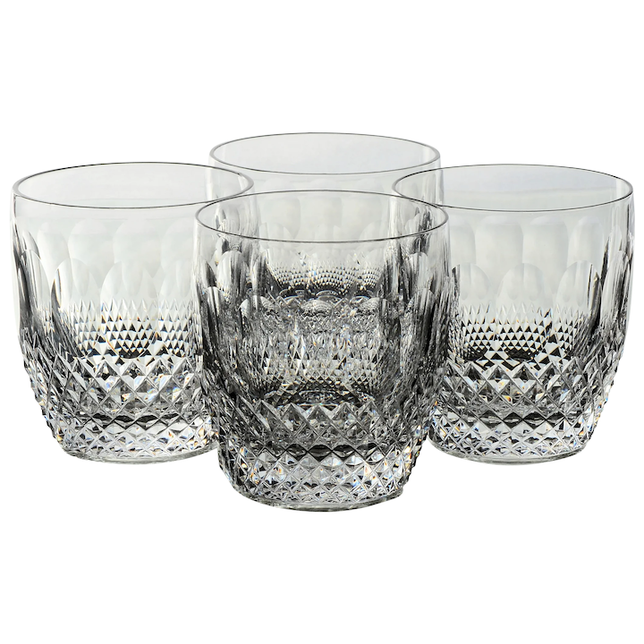 Set of 4 Waterford Colleen Short Stem (Cut) Old Fashioned Glasses