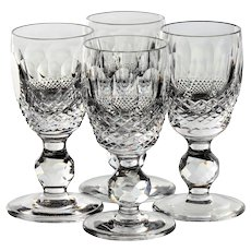 Set of 4 Waterford Colleen Short Stem (Cut) Cordial Glasses