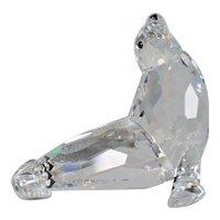 Swarovski Crystal Mother Sea Lion with Original Box