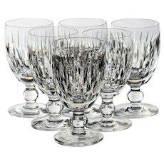 Set of 6 Waterford Maureen Claret Wine Glasses