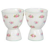 2 Shelley Rosebud Double Egg Cups # 13426