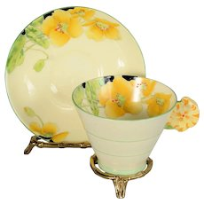Star Paragon Iceland Poppy Floral Handle Cup & Saucer 1923 - 1933