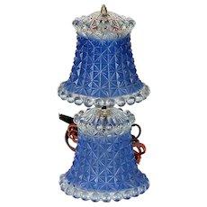 Blue Poured Glass Bedroom Light