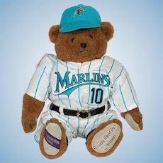 Florida Marlins Cooperstown Bear Diamond Teddy # 10 Original Box & Certificate