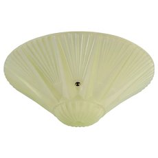 "Green Frosted Glass Ceiling Shade Approx. 10-1/4"" Dia."