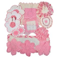 14 Crocheted Doilies - Variety of Colors, Patterns & Sizes