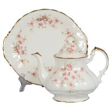 "Paragon ""Victoriana Rose"" 5 Cup Teapot & Handled Cake Plate"