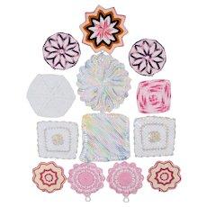 13 Hand Crochet Pot Holders/Hot Pads - Various Colors, Shapes & Sizes