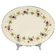 Royal Worcester Bacchanal Garland of Purple Grapes Platter