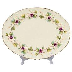 Royal Worcester Bacchanal Garland of Purple Grapes Platter