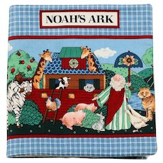 Baby's Soft Fabric Book Titled Noah's Ark