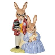 Royal Doulton Bunnykins - Father, Mother & Victoria DB68