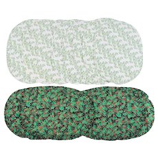Set of  12 Holiday Oval Quilted Placemats