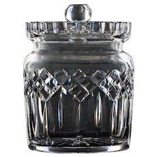Waterford Cut Crystal Lismore Biscuit Barrel