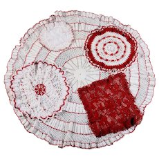 Lot of Crocheted Doilies - Variety of Colors, Patterns & Sizes