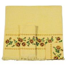 3 Piece Vintage Guest Towel Set