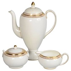 Wedgwood Gold Ulander Coffee Pot Set