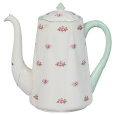 Shelley Rosebud 5 Cup Coffee Pot